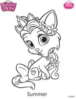 princess palace pets summer coloring page by skgaleana