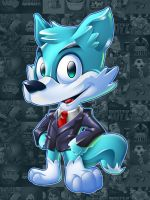 Blue Fox Mascot Design by LanotDesign