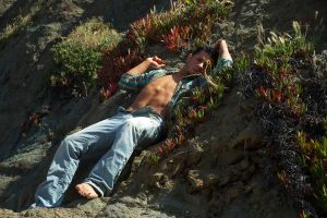 Karlos in the rock flowers by illicitDreamer