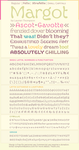 Margot Font Specimen #3 by nymphont