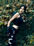 Lara Croft - leaves by TanyaCroft