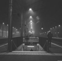 Gamma - Ilford - commuter morning by Picture-Bandit