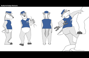 Character Design: Buddy by Temiree