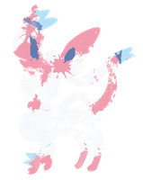 Sylveon Paint Splatter Graphics by HollysHobbies