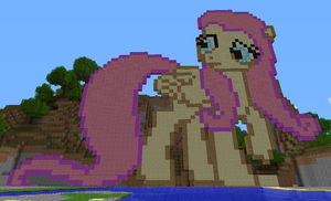 MINECRAFT Fluttershy by medli96