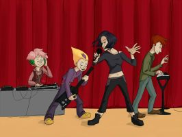 lyoko warriors ROCK OUT!!! by CluelessGhost