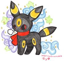 Umbreon for Kidura-san by sandninjaGaara666