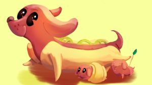 Weiner Dogs by AClockworkKitten