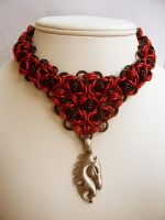 Horse Head Necklace by chainedoombaby