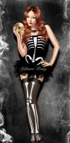 Skeleton by celinart-pinup