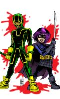 Kick-Ass and Hit-Girl by PowermasterJazz