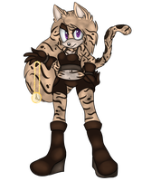 Kristen the Ocelot by Sarcelluni