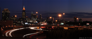 Atlanta Skyline Panoramic III by fusk4