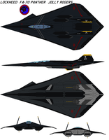 FA-70 Panther jolly rogers by bagera3005