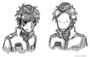 Two Swedish police officers by darndragon