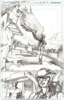 Earth 2 issue 7 page 4 pencils by Cinar