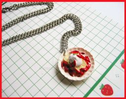 Strawberry Shortcake Necklace by cherryboop