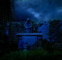 Night graveyard by indigodeep