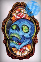 Stained glass tattoo design by jerrrroen