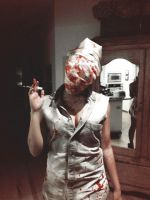 Silent Hill Bubble Head Nurse pt2 by The-Tall-Midget