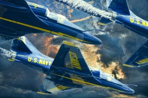 Blue Angels Sky Blue Yonder by artmaniabychristine