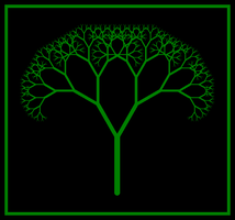 Simple Fractal Tree in Logo by copperphoenix