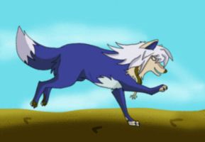 Bakura wolf run cycle by AzureHowlShilach
