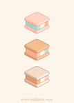 Ice Cream Sandwich Trio by milkbun