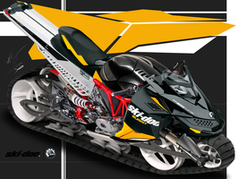 Ski-doo Ducati Summit All Terrain hybrid motorbike by GunZcon