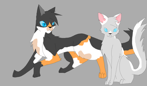 ForestFrost and Whisper -adopt by annathewerewolf