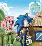 Your not my Amy are you? Archie and Fleetway by kintobor