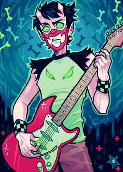 Tadhg Mini Print for Anarchy Dreamers Kickstarter by ZoeStanleyArts