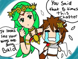 Don't rub it in palutena! by MyBlueStar7