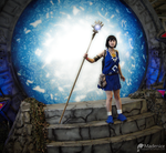 Populous: The Blue Shaman at Stargate 1 by Madenice