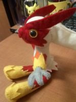 Big Simplified Blaziken Plush by Vulpes-Canis