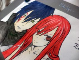 Erza and Jellal by ColdxSky-7
