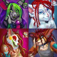 More Painted Busts by v-e-r-a