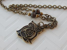 wise owl necklace by faranway