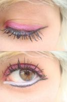 make:. eyeliner and pink by PanicPsycho
