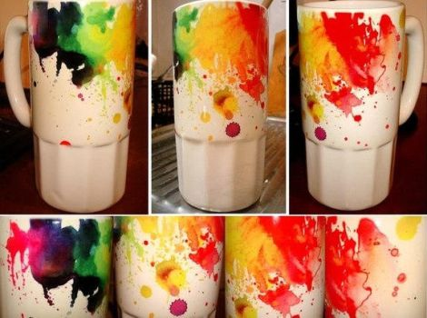 RAINBOW CUP by lora-zombie