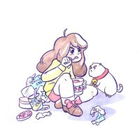 Bee and Icecream and Puppycat by 6vedik