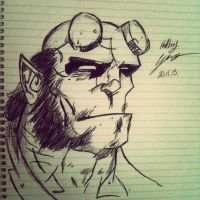 Hellboy Once again by Leamartes26