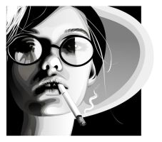 Glasses and a ciggie by pure-andrea