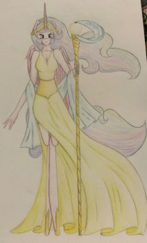 Anthro Celestia by MysticMelodie