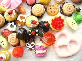 50 Sweets MIX Cabochons Charms by souzoucreations