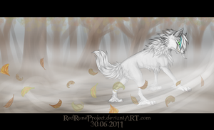 Art Trade - fallen leaves by Kocurzyca