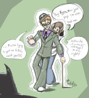 Eva and Nygma sketch by The-real-Vega777