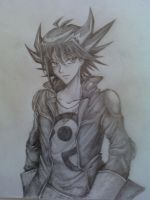 Yusei Fudo sketch by CountUchiha