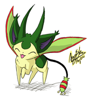 Flygon + Skitty? by LugiasSliverEclipse