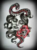 SNAKE tattoo design by MWeiss-Art